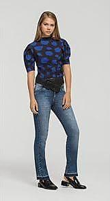 Lebôh Calça Straight Cos Intermediario Barra Desmanchada Jeans 34