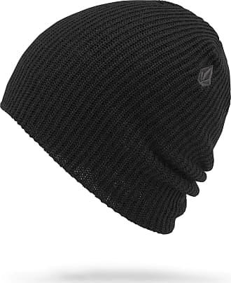 Volcom Womens Power Double Acrylic Snow Beanie, black One Size Fits All