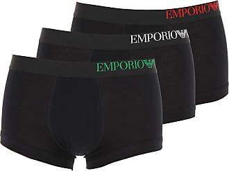 Emporio Armani Intimo Boxer da Uomo On Sale, 3 Pack, Nero, Cotone, 2019, S