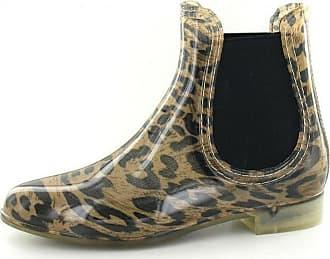 Spot On Ladies Ankle Wellington Boots - Tan Leopard Synthetic - UK Size 5 - EU Size 38 - US Size 7