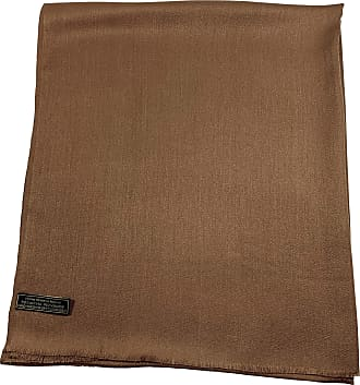 CJ Apparel Brown Fringe Solid Colour Design Shawl Seconds Scarf Wrap Stole Throw Pashmina NEW