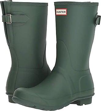 cfa32462078f Hunter Original Short Back Adjustable Rain Boots (Hunter Green) Womens Rain  Boots