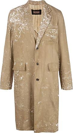 Uma Wang splatter print single breasted coat - Brown
