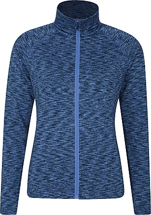 Mountain Warehouse Bend & Stretch Womens Full Zip Midlayer Jacket - Lightweight Ladies Sweatshirt, Breathable Pullover - Best for Winter Walking, Travelling, Camping Blu