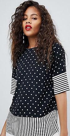 Y.A.S. Tall Bluse mit Streifen- und Punktmuster-Mehrfarbig