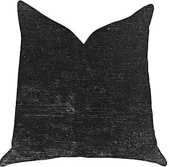 Plutus Brands Onyx Caviar Double Sided King Velvet Throw Pillow 20 x 36 Black