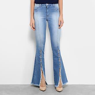 e2a3a7abb Biotipo Calça Jeans Flare Biotipo Barra Desfiada Cintura Média Feminina -  Feminino