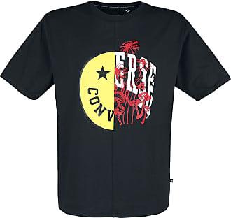Converse Smiley Split Graphic Tee - T-Shirt - schwarz