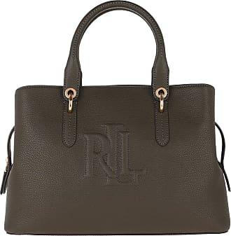 Lauren Ralph Lauren Tote - Hayward Medium Satchel Bag Deep Olive - green - Tote for ladies