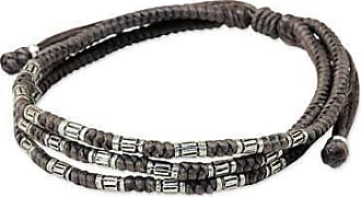 Novica Silver accent wristband bracelet, Forest Thicket in Taupe