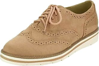 junkai Women Vintage Lace Up Pu Leather Flat Heels Ankle Booties Cuban Brogues Single Shoes Leisure Ladies Shoes Large Size Brown
