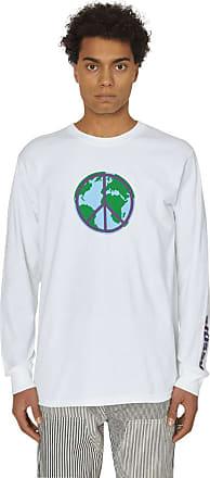 Stüssy World peace long sleeves t-shirt WHITE XL