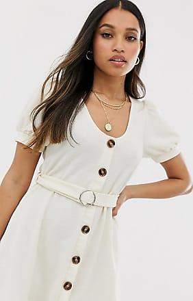 Miss Selfridge dress with belt in beige