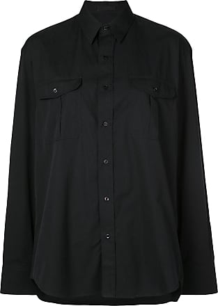 Wardrobe.NYC Release 03 tailored poplin shirt - Black