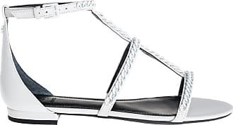Guess sandalo flat, 36 / bianco