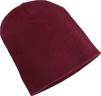 Yupoong Flexfit Unisex Heavyweight Standard Beanie Winter Hat (One Size) (Maroon)