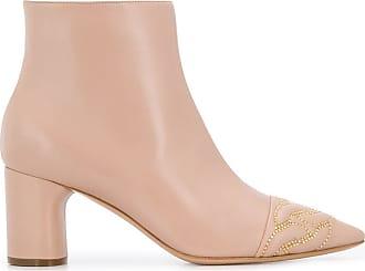 Casadei stud-embellished ankle boots - PINK