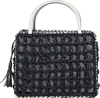 db3b7a4782 Salvatore Ferragamo Black Salvatore Ferragamo Leather   Fabric Evening Bag