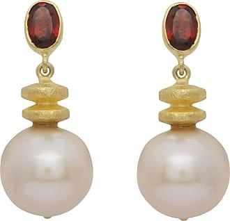 Carousel Jewels Granat und Perle Ohrringe