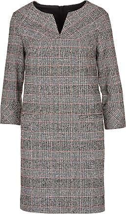b4afc0356ae1 Caroll Robe courte col tunisien motif prince-de-galles en laine mélangée