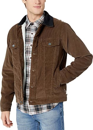 Billabong Billabong Mens Barlow Trucker Jacket, Dark Earth, XL