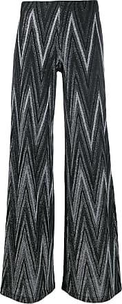 M Missoni Zigzag metallic knit palazzo pants - Preto