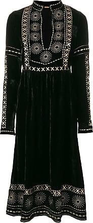 Dodo Bar Or Vestido midi com bordado - Preto