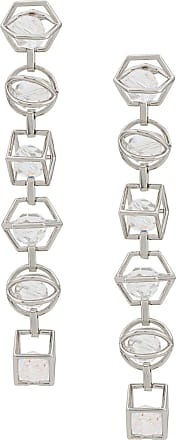 cae6a1f9d3731 Swarovski Nostalgia triple drop earrings by Mary Katrantzou - Prateado