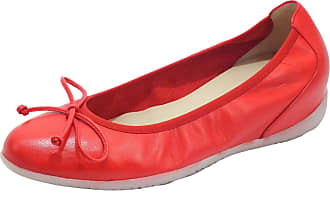 Wonders A-1101 Sauvag Rojo High Leather Ballet Flats Red Red Size: 8 UK