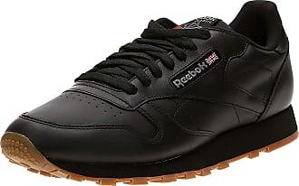 Reebok Mens Classic Leather Gymnastics Shoes, Black (Intense Black/Gum Intense Black/Gum), 14 UK