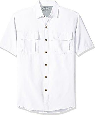 G.H. Bass & Co. Mens Explorer Short Sleeve Button Down Fishing Shirt, Legacy Rich Bright White S2018 1, Small