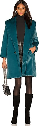 Yumi Kim Aspen Faux Fur Coat in Teal