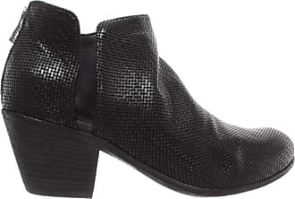 Officine Creative Womens Shoes Ankle Boots Giselle053 Ignis Leather Black Italy