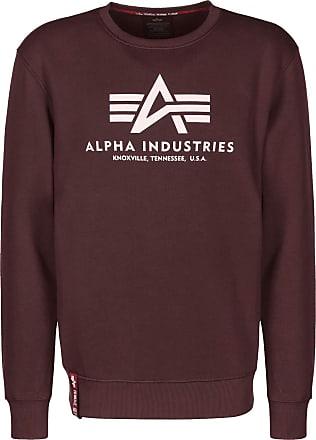 Alpha Industries Basic SWEATER FELPA UOMO SPEED RED NUOVO