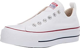 Converse Womens Chuck Taylor All Star Lift Slip Sneaker, White/Red/Blue, 8.5 M US