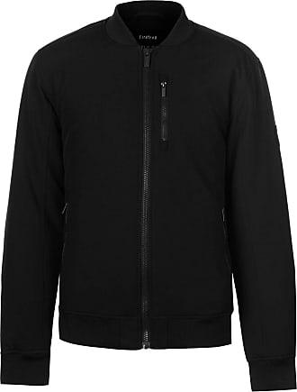 Firetrap Mens Bomber Jacket Coat Top Long Sleeve Zip Full Chest Pocket Black XXL