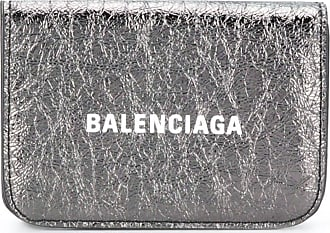 Balenciaga cash mini wallet - Prateado