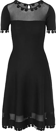 Oscar De La Renta Wool-blend Dress - Black