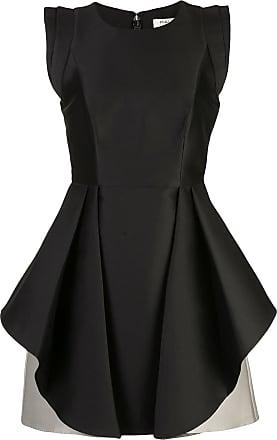 Halston Heritage Vestido bicolor - Preto
