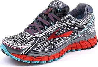 Brooks Womens Adrenaline ASR 12 GTX Trail Running Shoes, Grey - Grau (Anthracite/Hibiscus/Capri), 35.5 EU