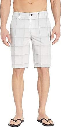 O'Neill Mens 19 Inch Outseam Hybrid Stretch Walk Short, Light Grey/Outsider Plaid, 30