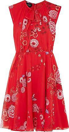 Giambattista Valli Giambattista Valli Woman Floral-print Silk-georgette  Mini Dress Red Size 42 bb4974d53