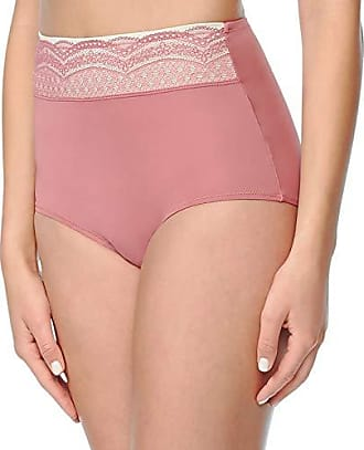 Warner's Womens No Pinching No Problem Microfiber with Lace Brief Panty, Rose Wine, 08