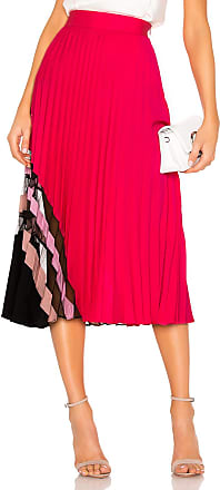 Milly Pleat Maxi Skirt in Pink