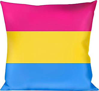 Buckle Down Pillow Decorative Throw Flag Pansexual Pink Yellow Blue