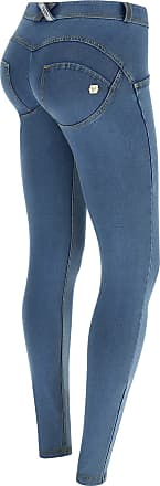 Freddy WR.UP Regular-Rise Skinny-fit Trousers in Light Denim - Clear Jeans-Yellow Seams - Extra Small