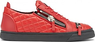Giuseppe Zanotti Red calfskin leather sneakers DYLAN