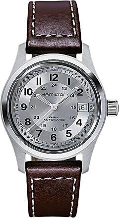 Hamilton Watch for Men, Silver, Leather, 2017, One Size