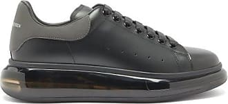 Alexander McQueen Alexander Mcqueen - Exaggerated-sole Leather Trainers - Mens - Black