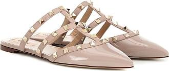 Valentino Garavani Rockstud patent leather slippers